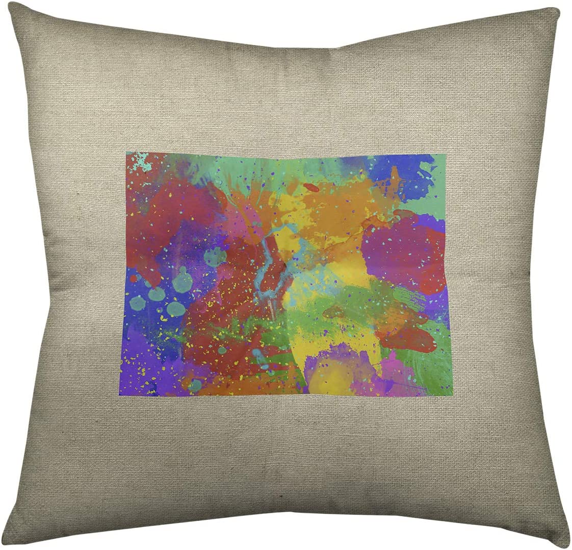 ArtVerse Katelyn Smith 26 x 26 Spun Polyester Double Sided Print with Concealed Zipper /& Insert Utah Watercolor Pillow