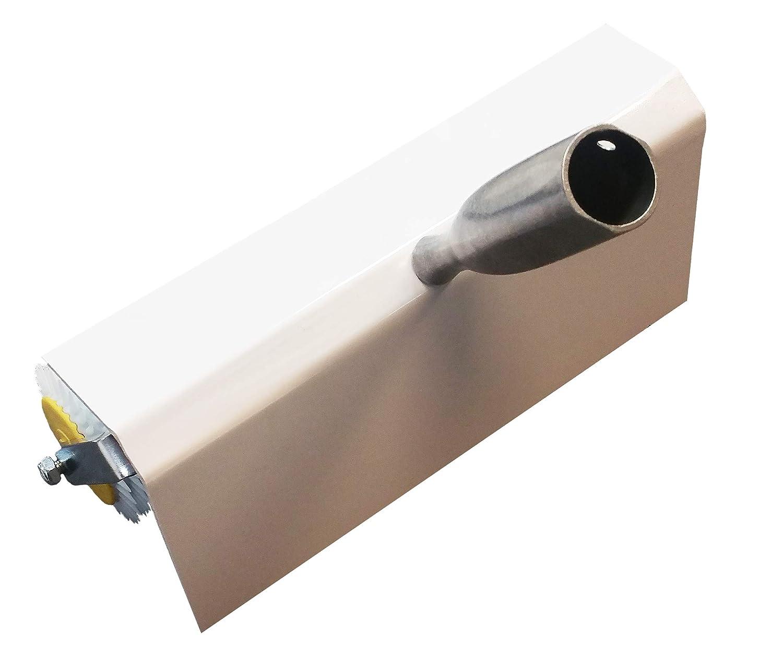 Entl/üftungsroller Set: 50 cm Entl/üftungswalze 35 mm Nylon-Nagelsohlen Betonentl/üfterrolle mit Spritzschutz Stachell/änge: 11 mm fertig montiert + Stehrakel Gro/ßfl/ächenrakel 560 mm