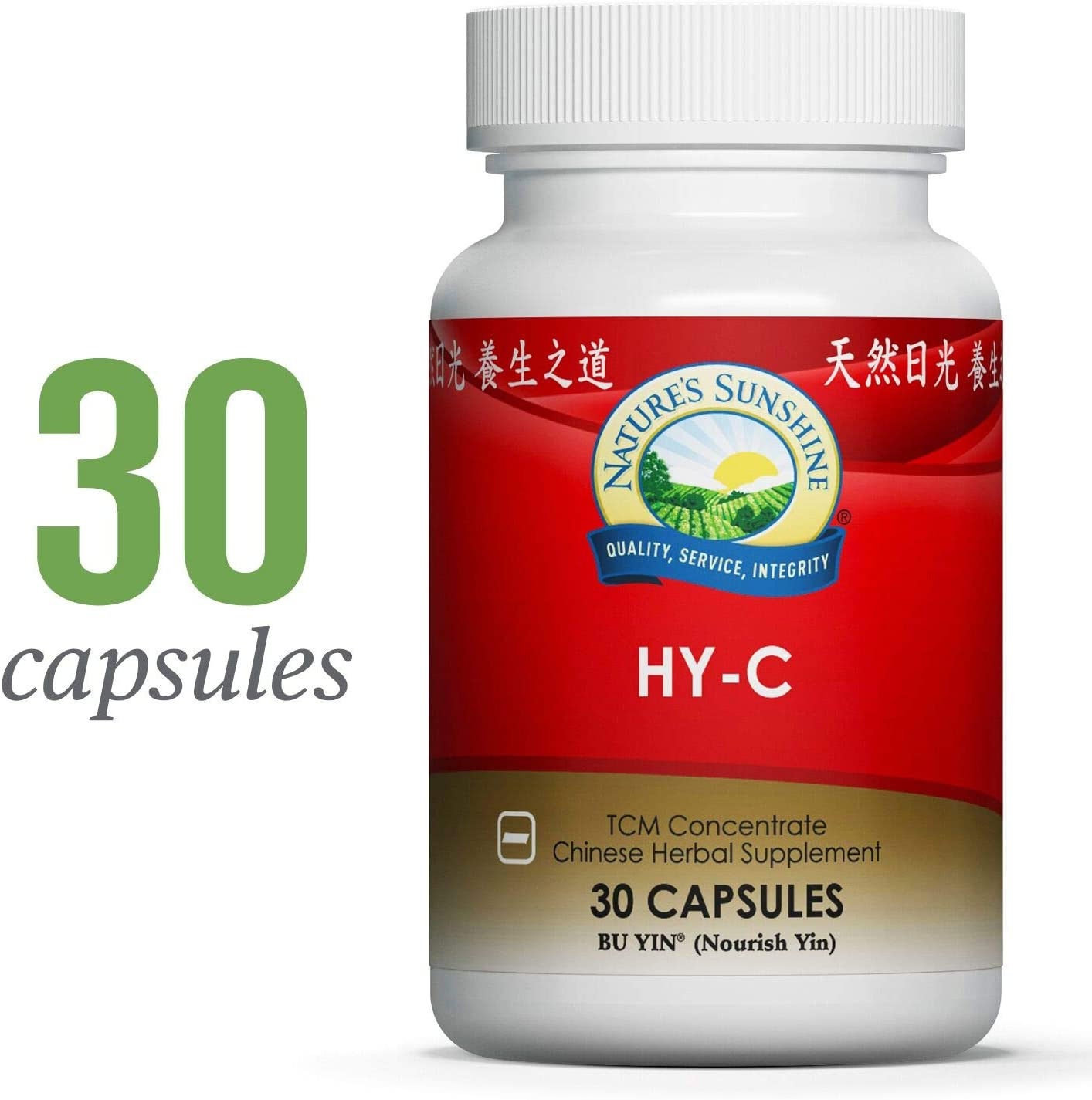 Nature s Sunshine HY-C TCM Concentrate, 30 Capsules Highly Concentrated Blend of 16 Chinese Herbs That Support The Circulatory and Glandular Systems