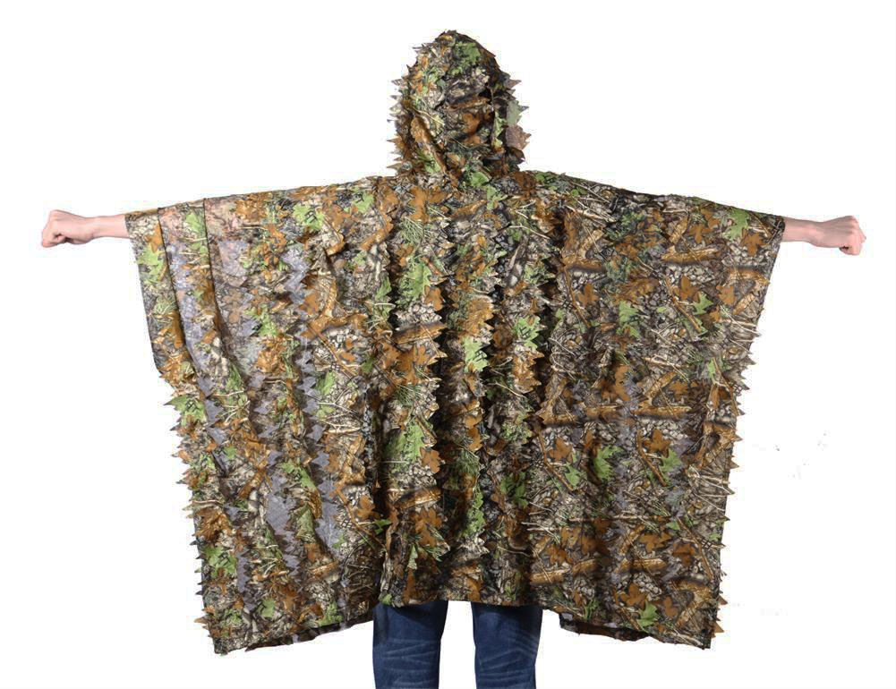 FengLiu Outdoor 3D Leaves Camouflage Poncho Camo Cape Cloak Stealth for Hunting Shooting Monitoring Wildlife Photography and Bird Watching etc by FengLiu store (Image #2)