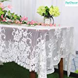 Lace-Tablecloth-Rectangular 60x120-Inch Vintage Table Cloth Rectangle Lace Tablecloth Wedding Kitchen Dining Coffee…