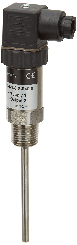 4 mA-20 mA 2-Wire Output 10-30 VDC NOSHOK 800 Series Platinum Resistance Temperature Transmitter VPower -10 0//250 F Temperature Range 6mm Diameter x 2-1//2 Length Stem //0.020 Amp +//-0.5/% Accuracy 1//2 NPT Male =
