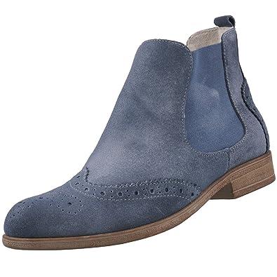 Tamaris Damen Chelsea Boots Blau (Denim), Schuhgröße:EUR 42