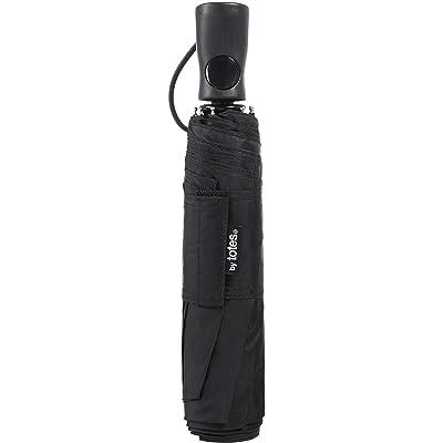 totes Raines by Sun Guard Umbrella with Auto Open Large Black