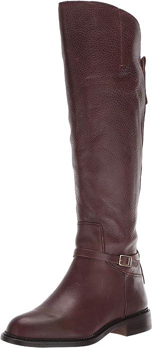 Franco Sarto Women's Haylie Knee High Boot, Black Leather, 6 M US