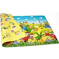 SCROSS Waterproof Double-Sided Child Activity Foam Floor Educational Gym Crawl Ocean Zoo Carpet Baby Play Mat (Medium, Multicolour)