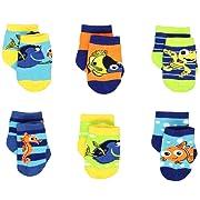 Finding Nemo Dory Baby Boys 6 pack Socks (6-12 Months, Nemo Multi)