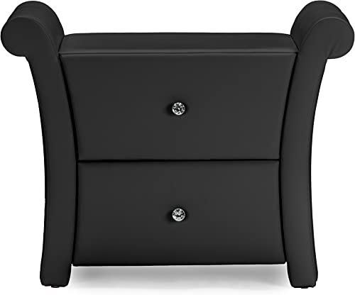 Baxton Studio Victoria Faux Leather Upholstered Modern Nightstand