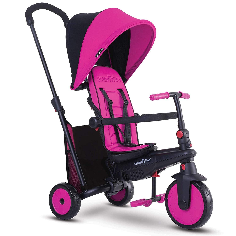 smarTrike smarTfold 300 Folding Baby Tricycle, Pink