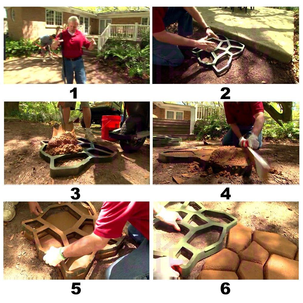 HENGDA® Aceras tiritas Forma adoquinado tiritas palo piedra Plantilla Fundición para hormigón: Amazon.es: Bricolaje y herramientas