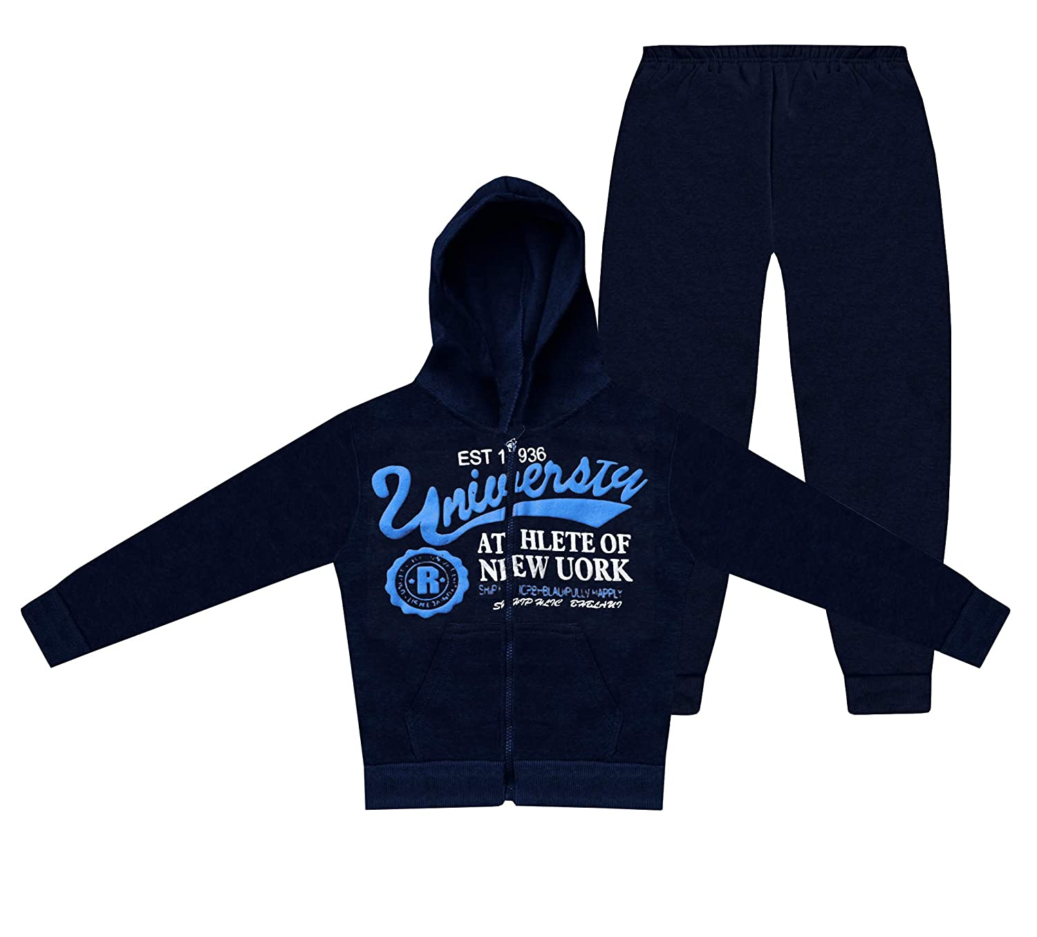 Boys Tracksuit 2 Piece Set Sportswear Kids Top Jogging Bottoms and Hoodie