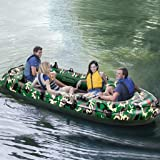 【DHL Shipping】 Heavy Duty Inflatable Dinghy Boat for Adults,10FT Portable Boat Raft for 3/4 Person, Foldable Dinghy…