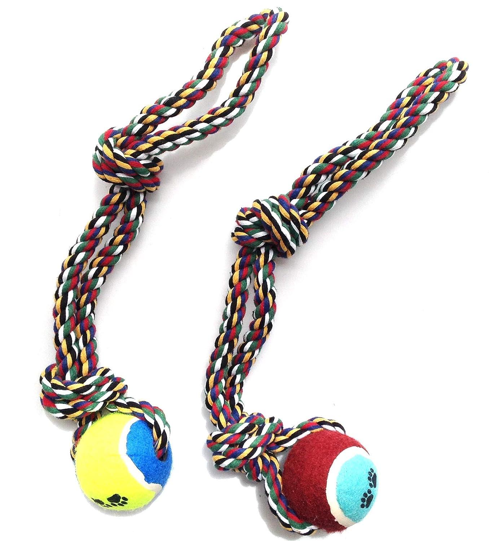 2 pcs de corde avec Balle Jouet pour chien animaux Mlin