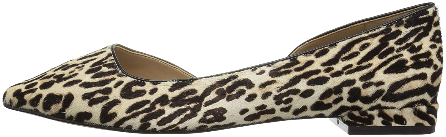The Fix Women's Emma Pointed-Toe D'Orsay B(M) Ballet Flat B072Y43DP3 6.5 B(M) D'Orsay US|Snow Leopard Calf Hair 8faaac
