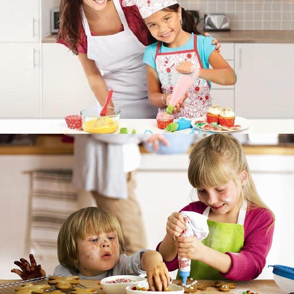 Chef Hat and Other Accessories Childrens Day Gift Zerodis Kids Chef Set Children DIY Cooking Pretend Play Toddler Career Role Play with Apron for Girls