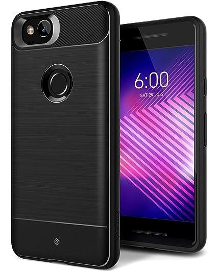 new concept b2ed8 fde34 Caseology Vault for Google Pixel 2 Case (2017) - Rugged Matte Finish - Black