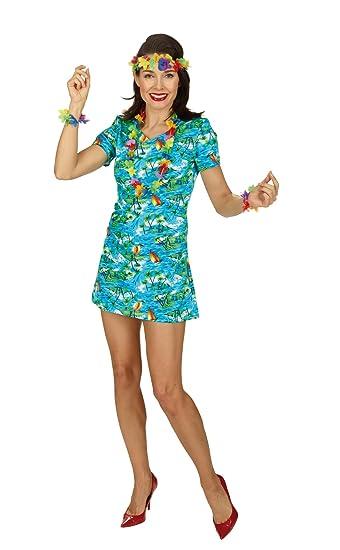 Hawaii Kleid Karibik Gr. 36 38 zum Südsee Hula Party Kostüm für ...