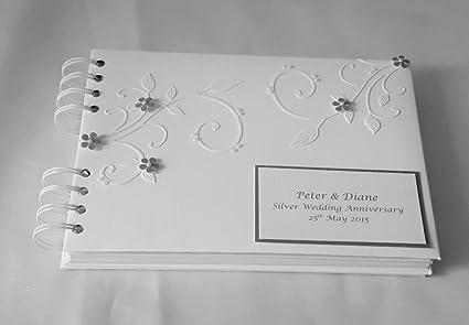 Photo Albums Personalised Wedding Photo Album 25th Anniversary Gift Luxury Silver Wedding Home Furniture Diy Cruzeirista Com Br
