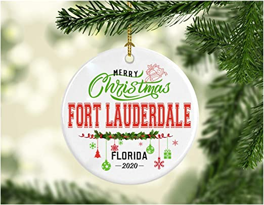 Christmas In Fort Lauderdale 2020 Amazon.com: Christmas Decorations Tree Ornament   Gifts Hometown