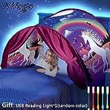 Nifogo Tiendas Carpa de Ensueño Bed Tent Magical World Carpa Impermeable Ensueño Wizard Children Play Cama Tienda…