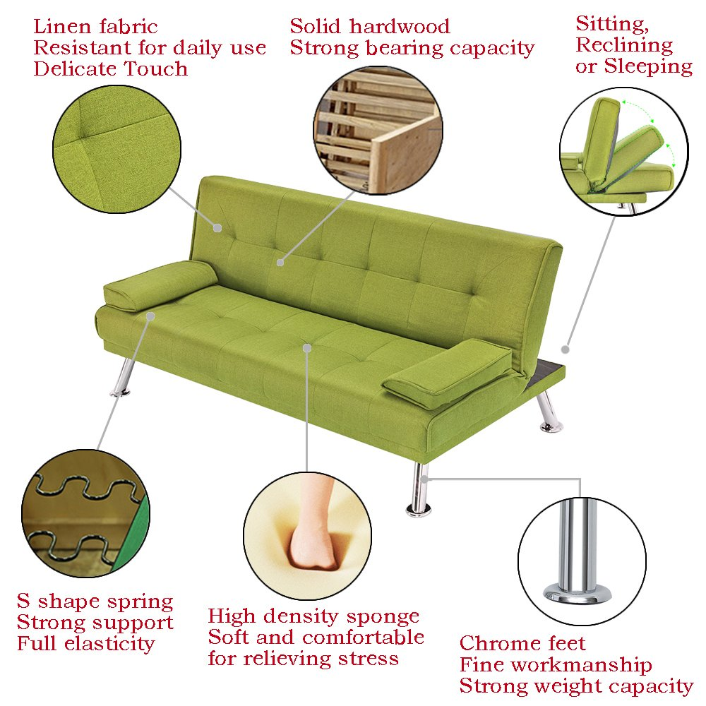 Terrific Bon Shop Multifunction Lazy Sofa Bed 2 Seater Fabric Suite Sofabed Living Room Green Gmtry Best Dining Table And Chair Ideas Images Gmtryco