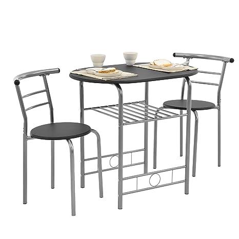 En Casa Set De Salle A Manger Table Avec 2 Chaises Set De Bistro