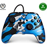 Controle Com Fio - Enhanced Wired - Xbox Series X | S Xbox One - Xbox Series X - PowerA - Camuflado Azul