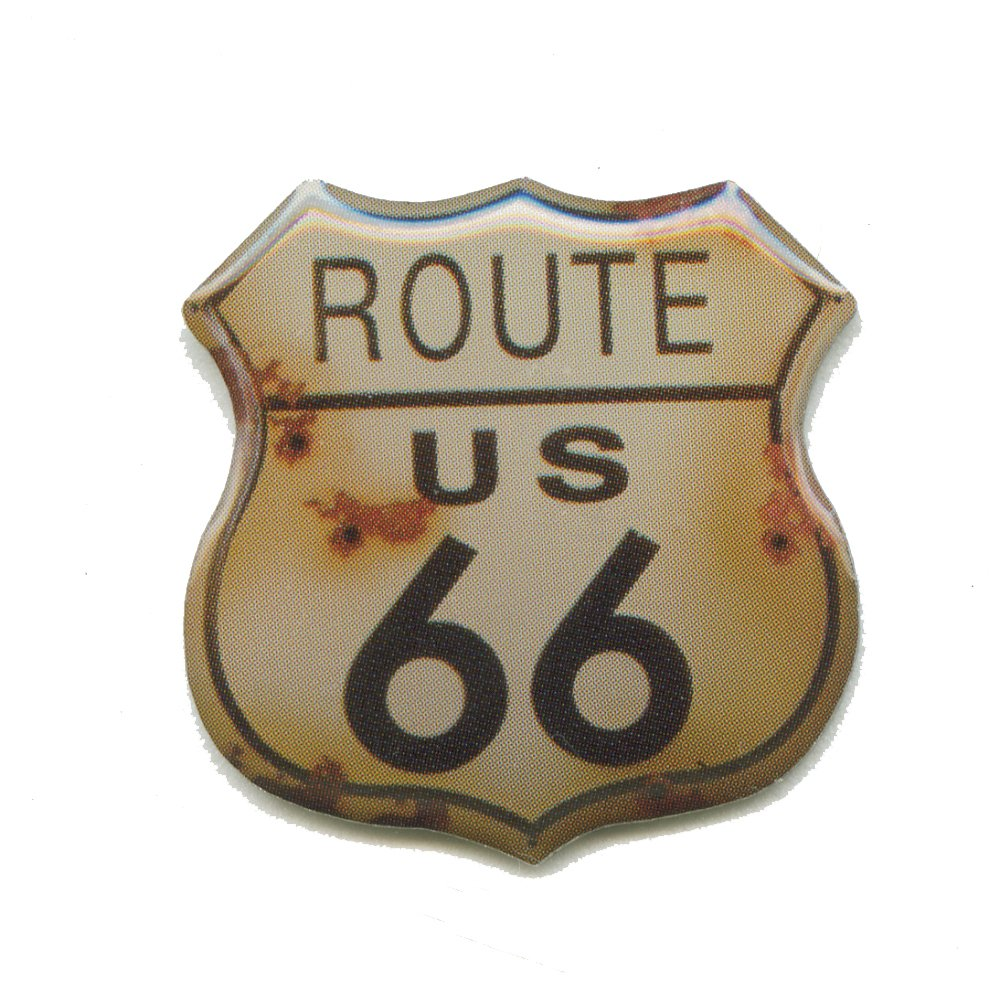 Grande Route 66  USA Mainstreet Mother Road Nostalgie Ré tro Pin Badge 0593 Import / Hegerring
