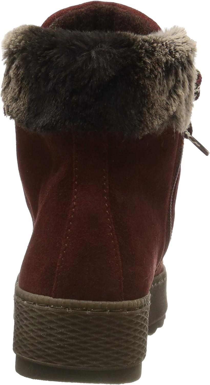 Gabor Damen Comfort Basic Stiefeletten Rot Dark Red Mel 38