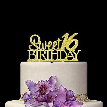 Miraculous Sweet 16 Cake Topper 16Th Birthday Cake Topper For Sweet 16 Party Funny Birthday Cards Online Necthendildamsfinfo