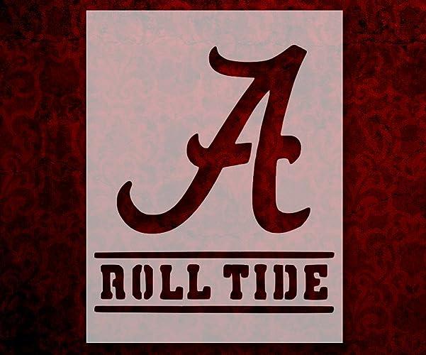 amazon com alabama crimson roll tide 8 5 x 11 custom stencil fast rh amazon com University of Alabama Printable Logos Printable Alabama Crimson Tide Logos