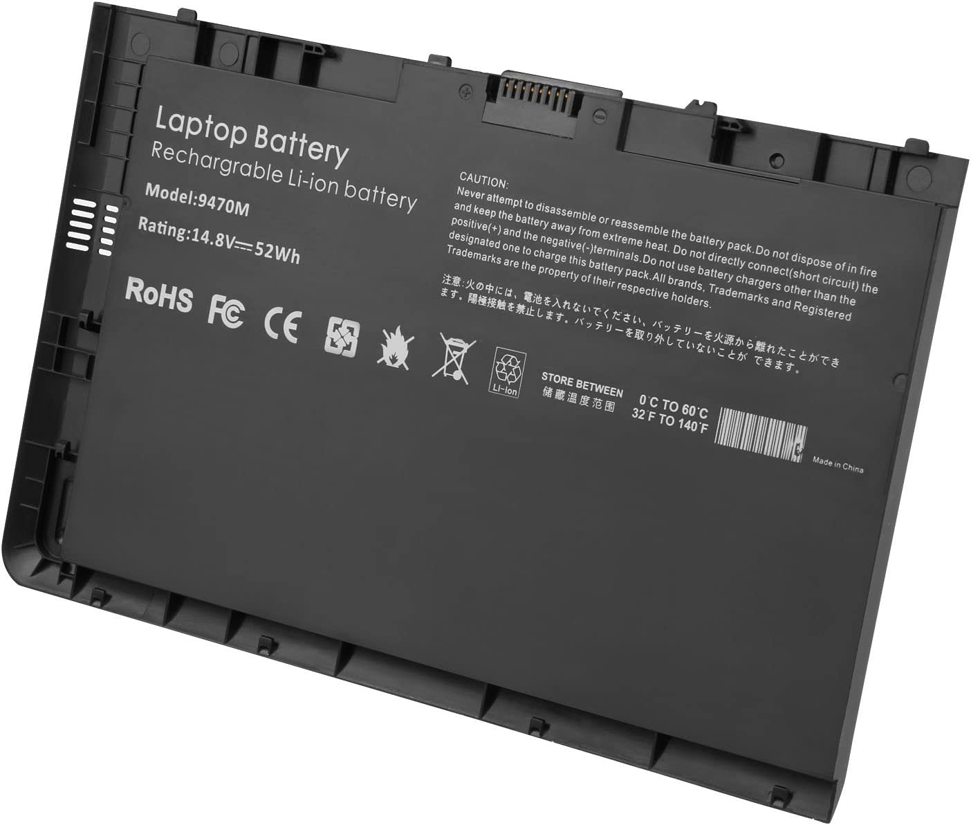 ARyee BT04XL 687945-001 Laptop Battery for Hp Elitebook 9470 9470m 687945-001 687517-241 687517-171 BT04 BT04XL BA06 BA06XL H4q47aa H4q48aa HSTNN-IB3Z HSTNN-I10C HSTNN-DB3Z