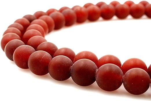 Fashion 3 Strands Natural 8mm Red Jade Round Gemstone Beads Necklace 18/'/'