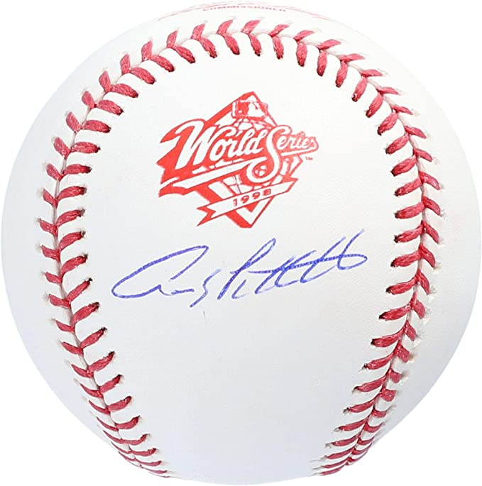 Andy Pettitte New York Yankees Autographed 1996 World Series Logo Baseball Fanatics Authentic Certified