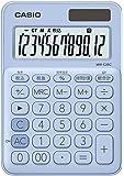 カシオ 電卓 12桁 (ペールブルー)CASIO カラフル電卓 ミニジャストタイプ MW-C20C-LB