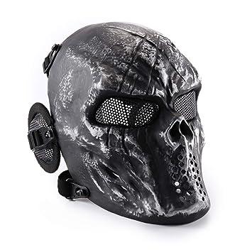 Wwman - Máscara táctica de cara completa para airsoft, paintball y