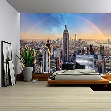 amazon com wall26 new york city skyline with urban skyscrapers