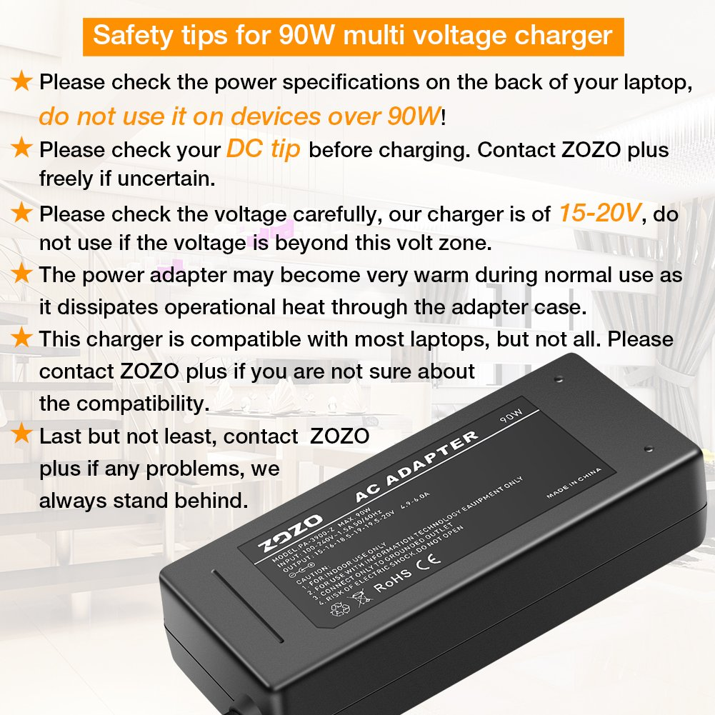 Zozo 90w 15v 16v 185v 19v 195v 20v Ac Laptop Power Circuits Gt Filter And Phone Line Homemade Circuit Adapter Charger Multi Tips For Hp Dell Toshiba Ibm Lenovo Acer Asus Samsung Sony Fujitsu