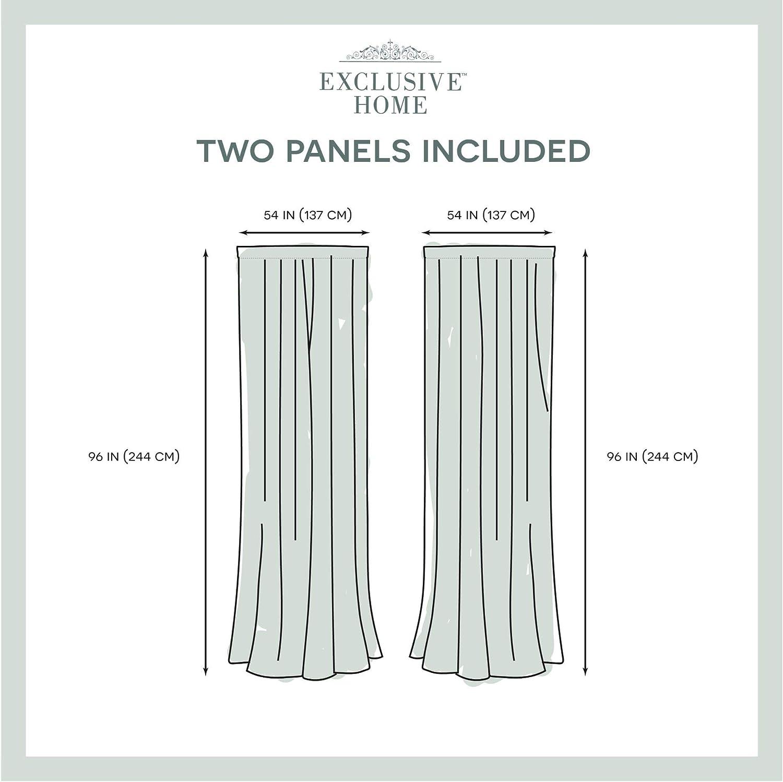 54/x 84 Gris Tourterelle Home Exclusive Exclusif Maison Rideaux Santos Lin textur/é Sheer Tige de Poche fen/être Panneau de Rideau Paire