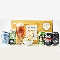 Beer Hawk Beery Gift Hamper Selection Box – Craft Beer Gift Set with Glass & Snacks