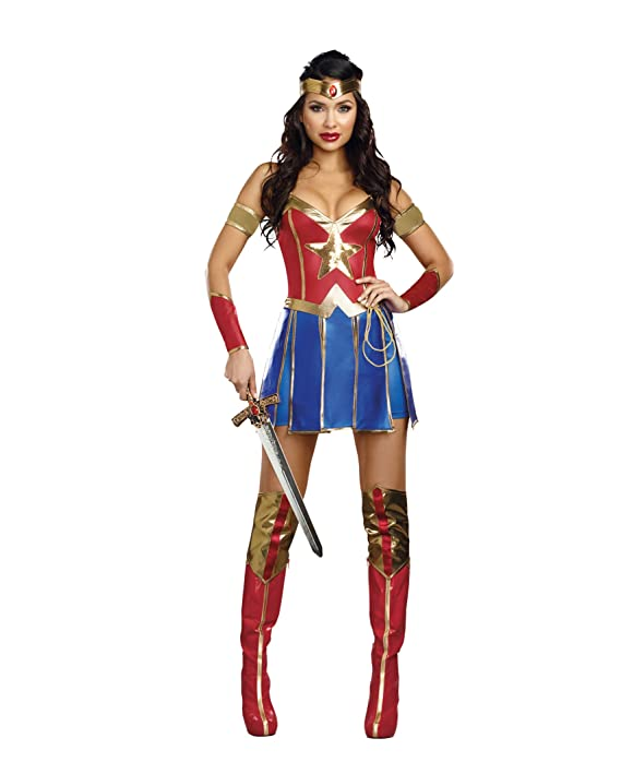 Amazon.com Dreamgirl Womenu0027s Power of Justice Costume Multi X-Large Clothing  sc 1 st  Amazon.com & Amazon.com: Dreamgirl Womenu0027s Power of Justice Costume Multi X ...