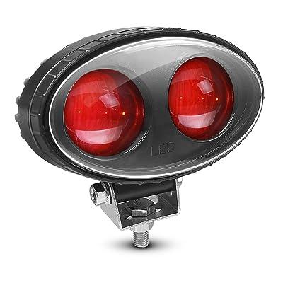 LY8 LED Forklift Safety Light Red Zone Danger Area Lights Warehouse Pedestrian Warning Spot Light 8W 5.5inch 10V-80V 1PCS: Automotive