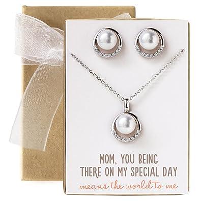 Amazoncom Wedding gift Mother of the Bride Groom Pearl Jewelry