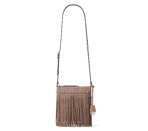 70c1c530ca MICHAEL Michael Kors Suede Billy Fringe Small Messenger (Dark Dune)   Amazon.ca  Shoes   Handbags
