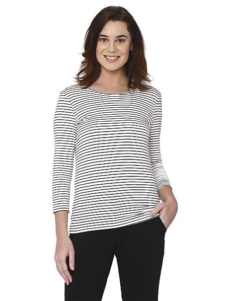 149808e0c34 Vero Moda Women's VMAVA Plain 3/4 TOP VMA T-Shirt, Mehrfarbig (