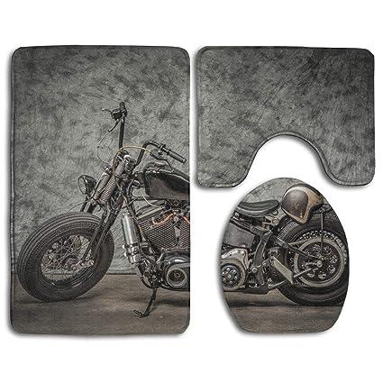 Superb Amazon Com Kdcrdiy Harley Davidson Motorcycle Bathroom Rug Beutiful Home Inspiration Xortanetmahrainfo