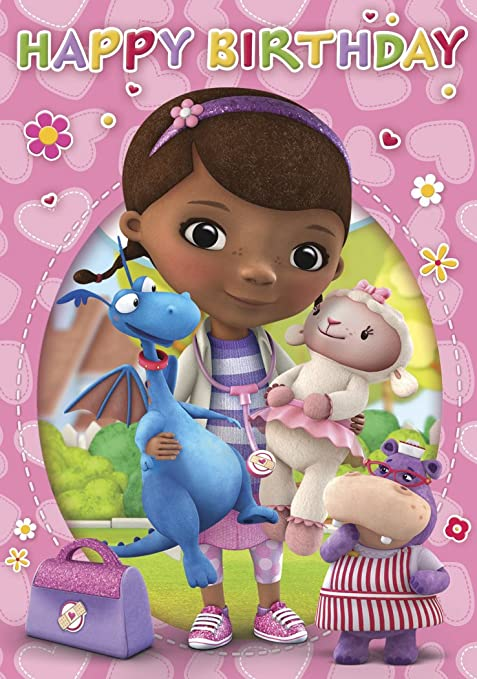 Amazon.com : Portico Doc Mcstuffins General Birthday Card : Office Products