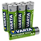 VARTA Recharge Accu Solar AA Mignon Ni-Mh Akku (wiederaufladbar ohne Memory-Effekt, 800mAh, 8er Pack)