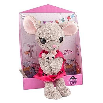 House of Mouse Mama Ratón con bebé Abdomen, Peluche, 35 cm, 8878