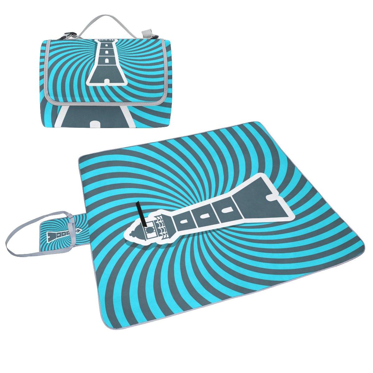 c8818d936 COOSUN Manta de de de picnic con icono para el faro, resistente al moho y